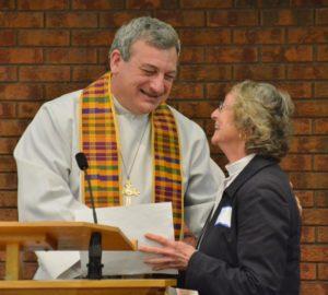 Deacon Fran licensed by Bishop Michael
